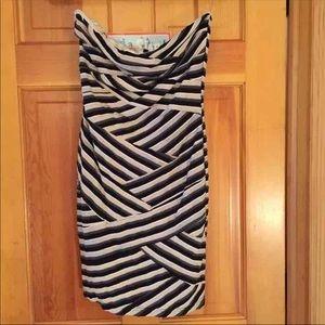 Striped tube top dress
